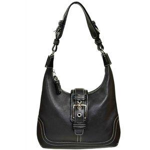 Coach Black Leather Hobo Shoulder Bag  #F04S-7462